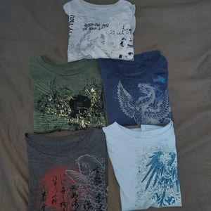 Lot of 5 Stranded Boy's Shirts 4T NWT